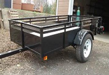 Trailer 4′ x 8′ – 2000 pounds – 16 inch sides and door