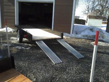 Trailer 4′ x 8′ – 12 inch sides with ramps STARTING AT $ 990